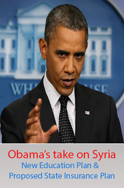 Obama's take on Syria – education and insurance